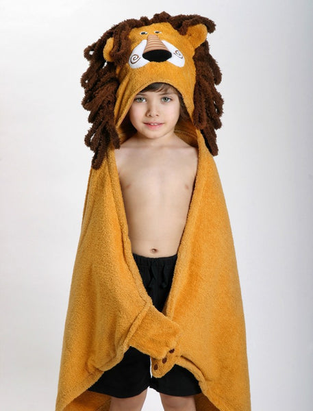 zoocchini hooded towel, leo the lion