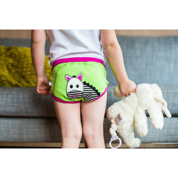Zoocchini training pants, safari friends, underwear, organic, lifestyle image