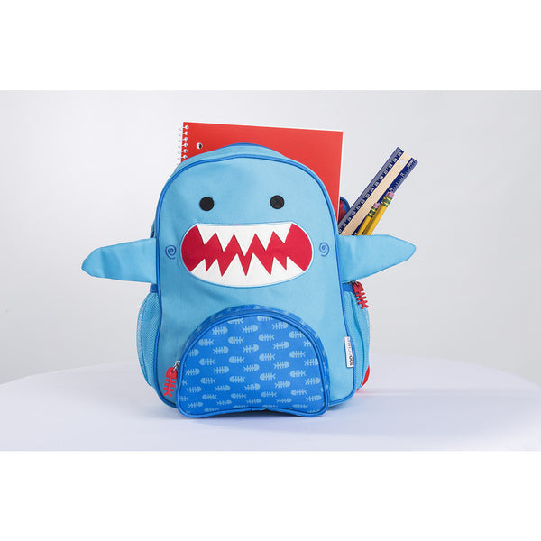 zoocchini backpack, sherman the shark, back to school