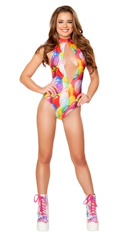 Balloons High Neck Halter Romper by J Valentine - HussyStore - 1
