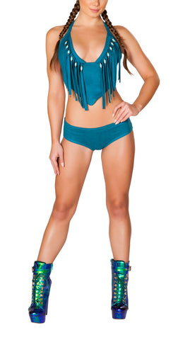 Rodeo Top and Shorts - Teal