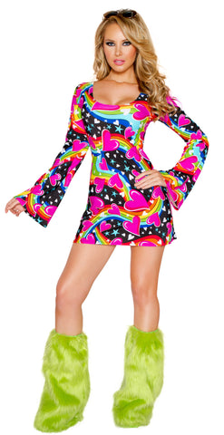 Happy Hippie Dress Costume by J Valentine - HussyStore - 1
