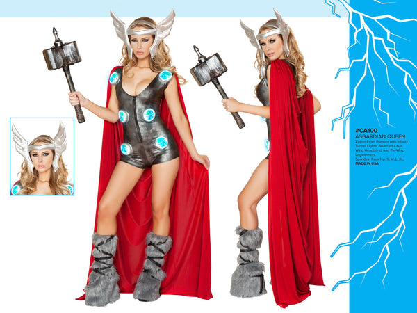 Asgardian Queen Costume with Cape, and Legwarmers by J Valentine - HussyStore - 2