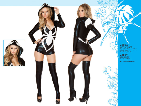 Web Spinner Hooded Romper Costume by J Valentine