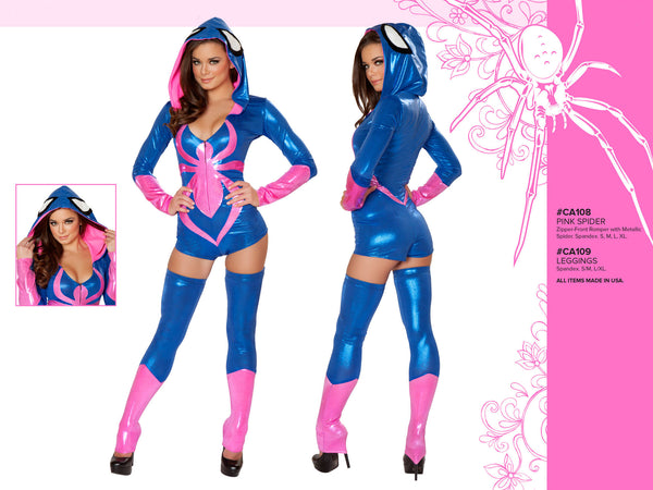 Pink Spider Hooded Romper Costume by J Valentine - HussyStore - 2