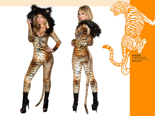 Tiger Catsuit Costume by J Valentine