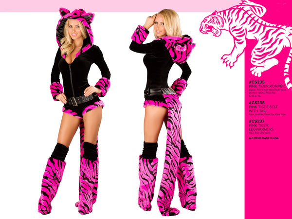 Hot Pink Tiger Romper Costume by J Valentine - HussyStore - 3