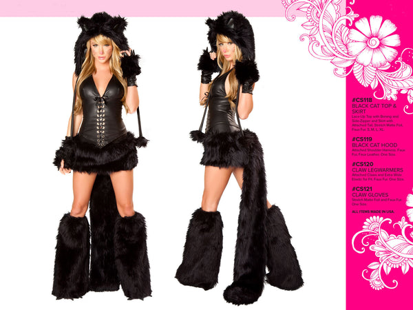 Black Cat Furry Costume by J Valentine - HussyStore - 2