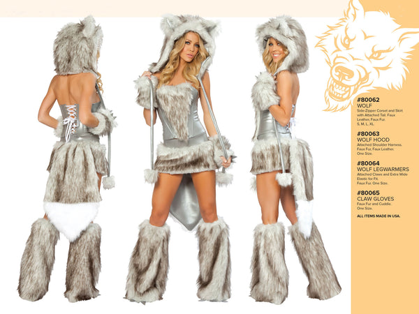 Big Bad Wolf Furry Costume by J Valentine - HussyStore - 2