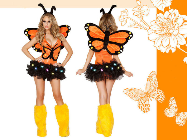 Monarch Butterfly Costume by J Valentine Complete Set - HussyStore - 3