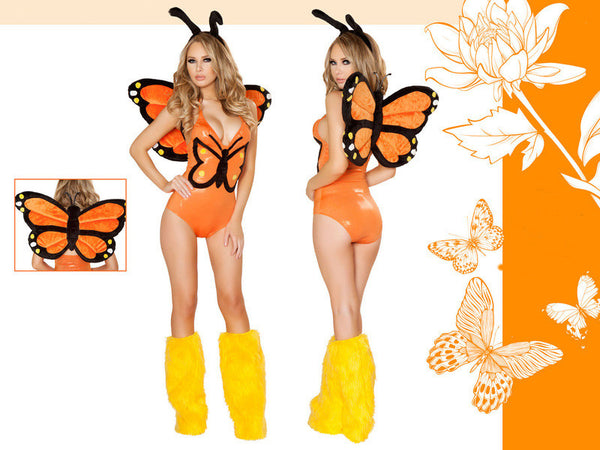 Monarch Butterfly Costume by J Valentine Complete Set - HussyStore - 4