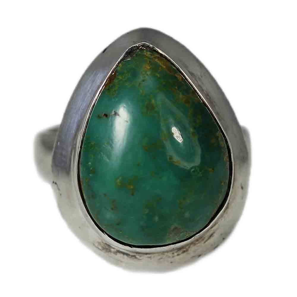 Handmade Pear-Shaped Turquoise Ring