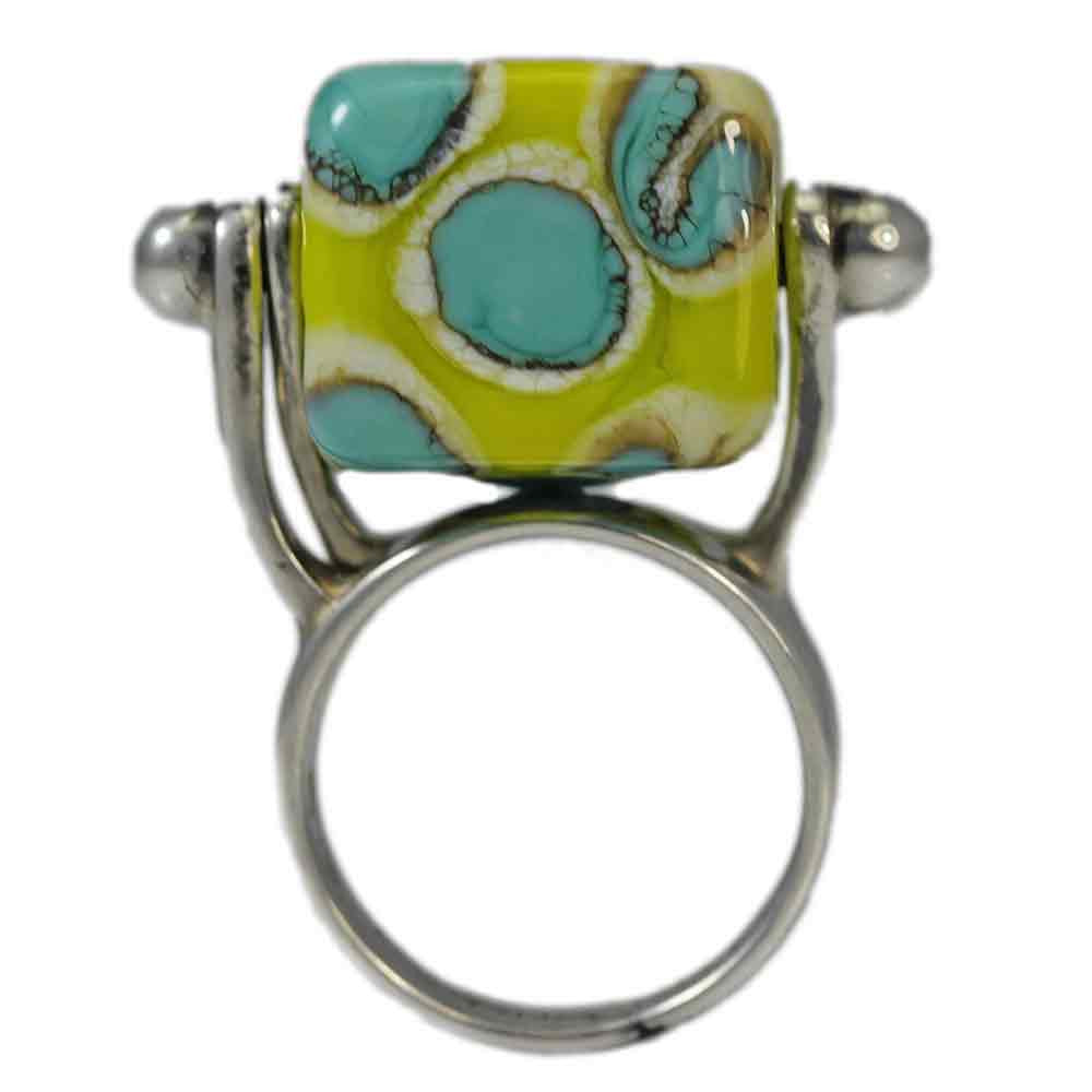Interchangeable Handmade Lampwork Glass Ring