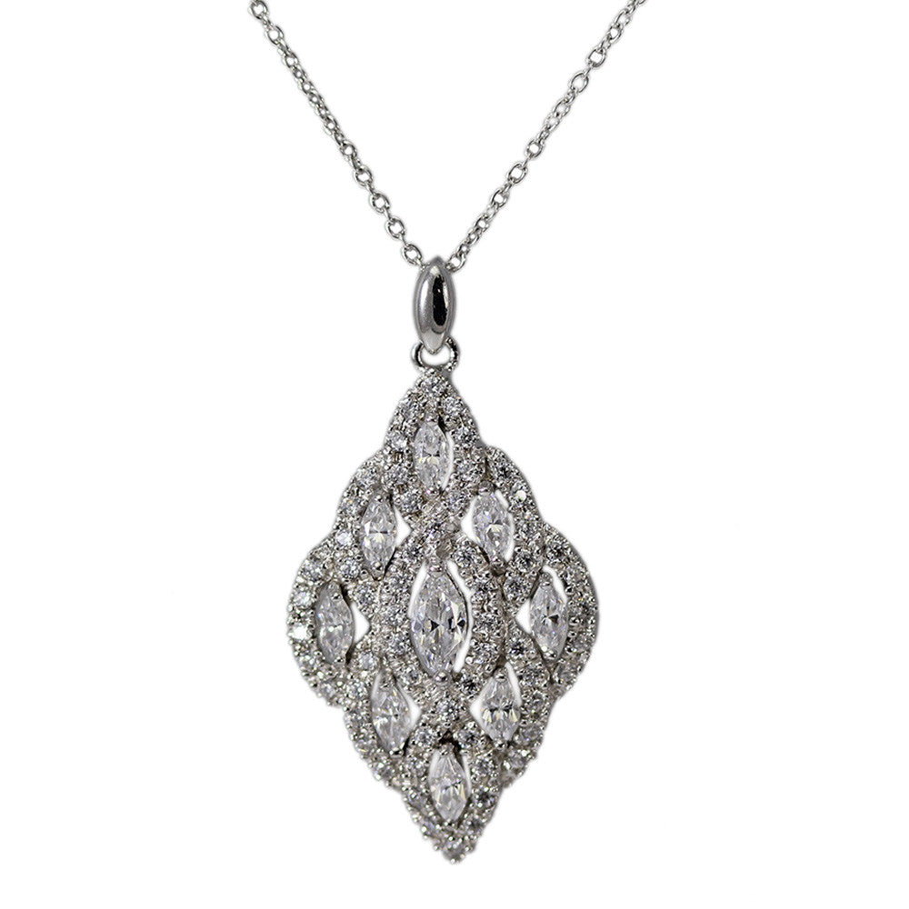 SS Cubic Zirconia Necklace