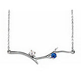 Sterling Silver 1-6 Stone Family Branch Necklace
