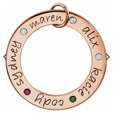 14K Rose Gold Posh Mommy® Engravable Loop Pendant