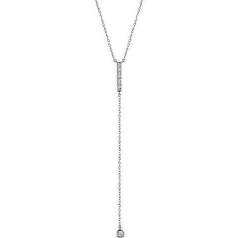 "14K Gold 1/8 CTW Diamond Bar Y 16-18"" Necklace"