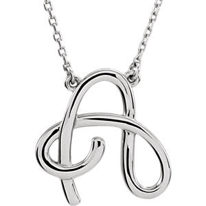 "14k ""A"" Script Initial 16"" Necklace"