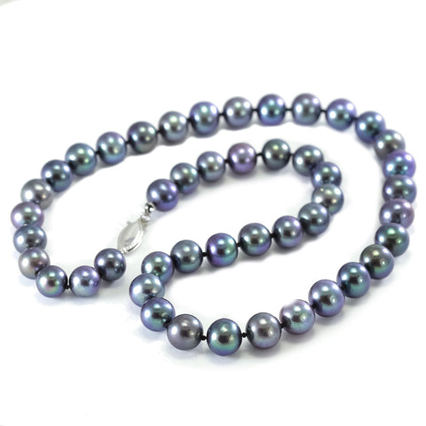 Cultured Black Pearl Strand Necklace