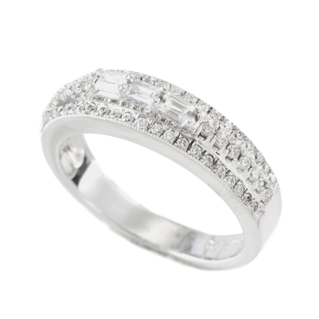 Sterling Silver Cubic Zirconia Wedding Band