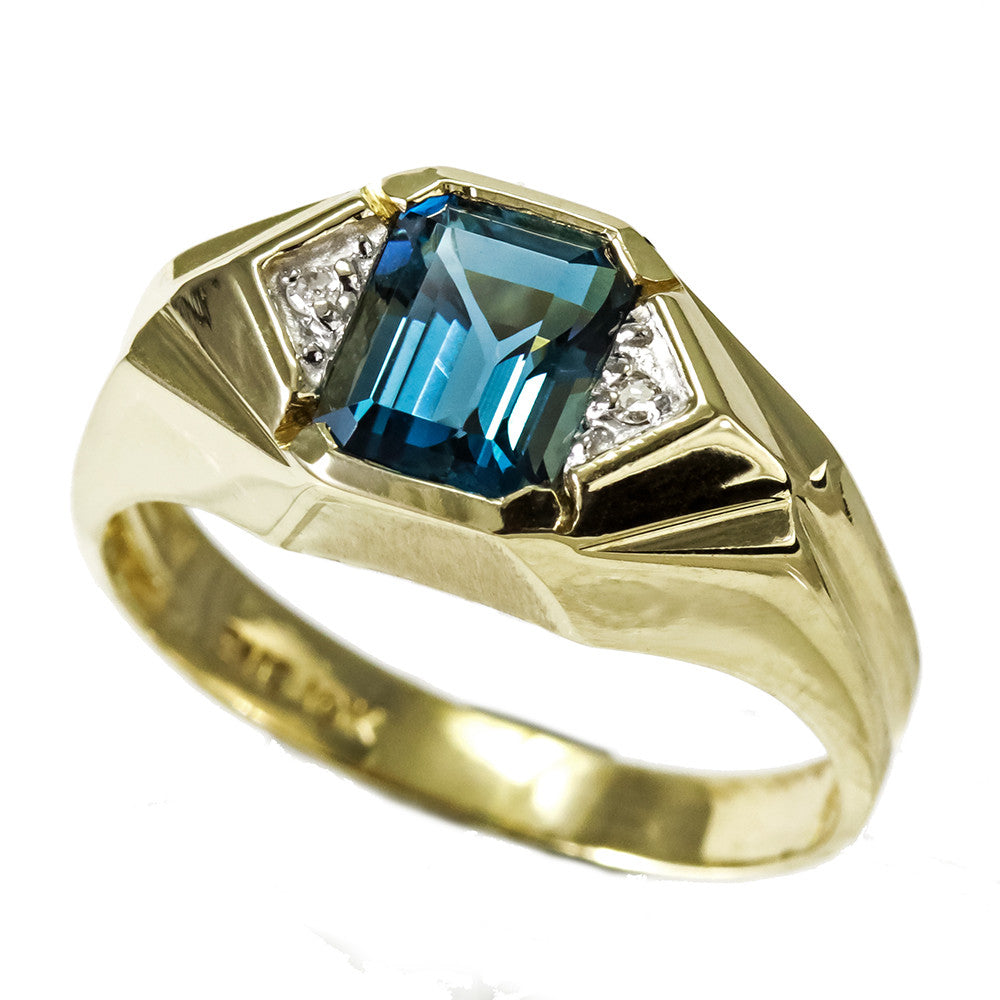 boutique blue ring in gold topaz oval diamond and engagement