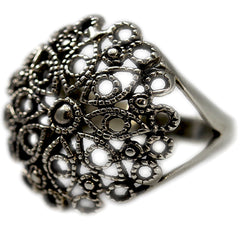 Sterling Silver Filigree Design Ring
