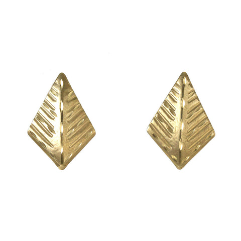 14 yellow gold diamond cut chevron cut
