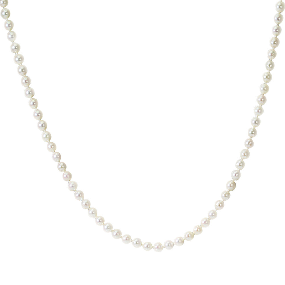 Long Cultured Pearl Strand Necklace