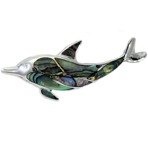 Abalone Dolphin Pendant
