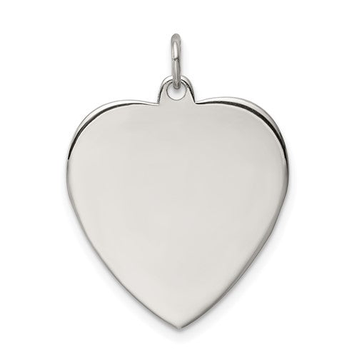 Sterling Silver Engraveable Heart Pendant