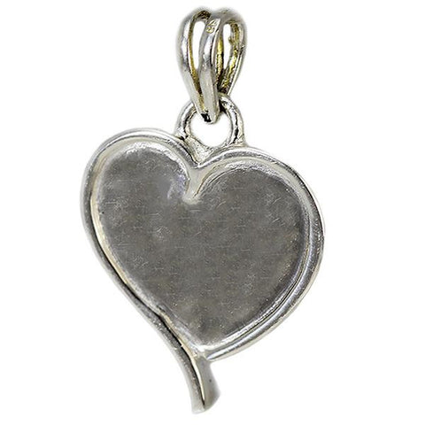 Handmade Sterling Silver Forever In My Heart Heart Shaped Pendant Necklace