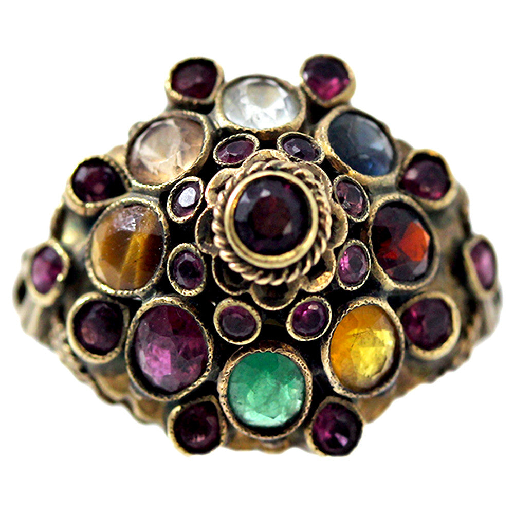 18 Carat Gold Ring with Gemstone Variety
