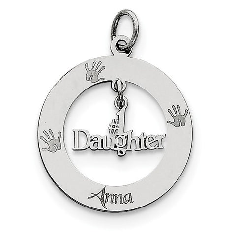Sterling Silver Personalizable #1 Daughter Charm