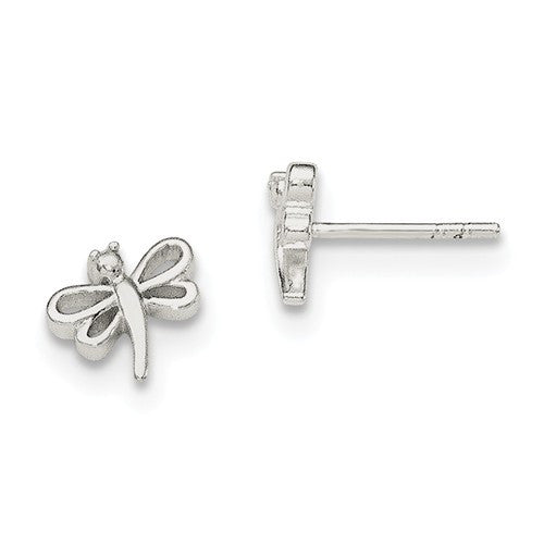 Sterling Silver Dragonfly Post Earrings