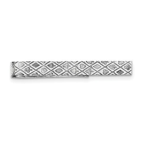 Sterling Silver Poker/Tic Tac Tie Bar