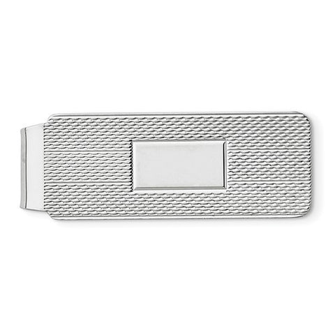 Sterling Silver Patterned Money Clip