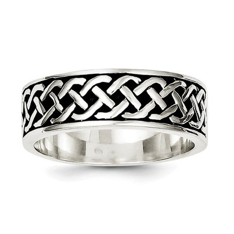 Sterling Silver Weave Design Ring