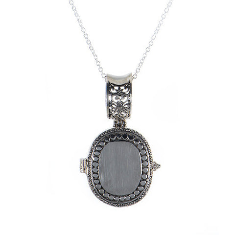 Handmade Sterling Silver Oval Locket Pendant
