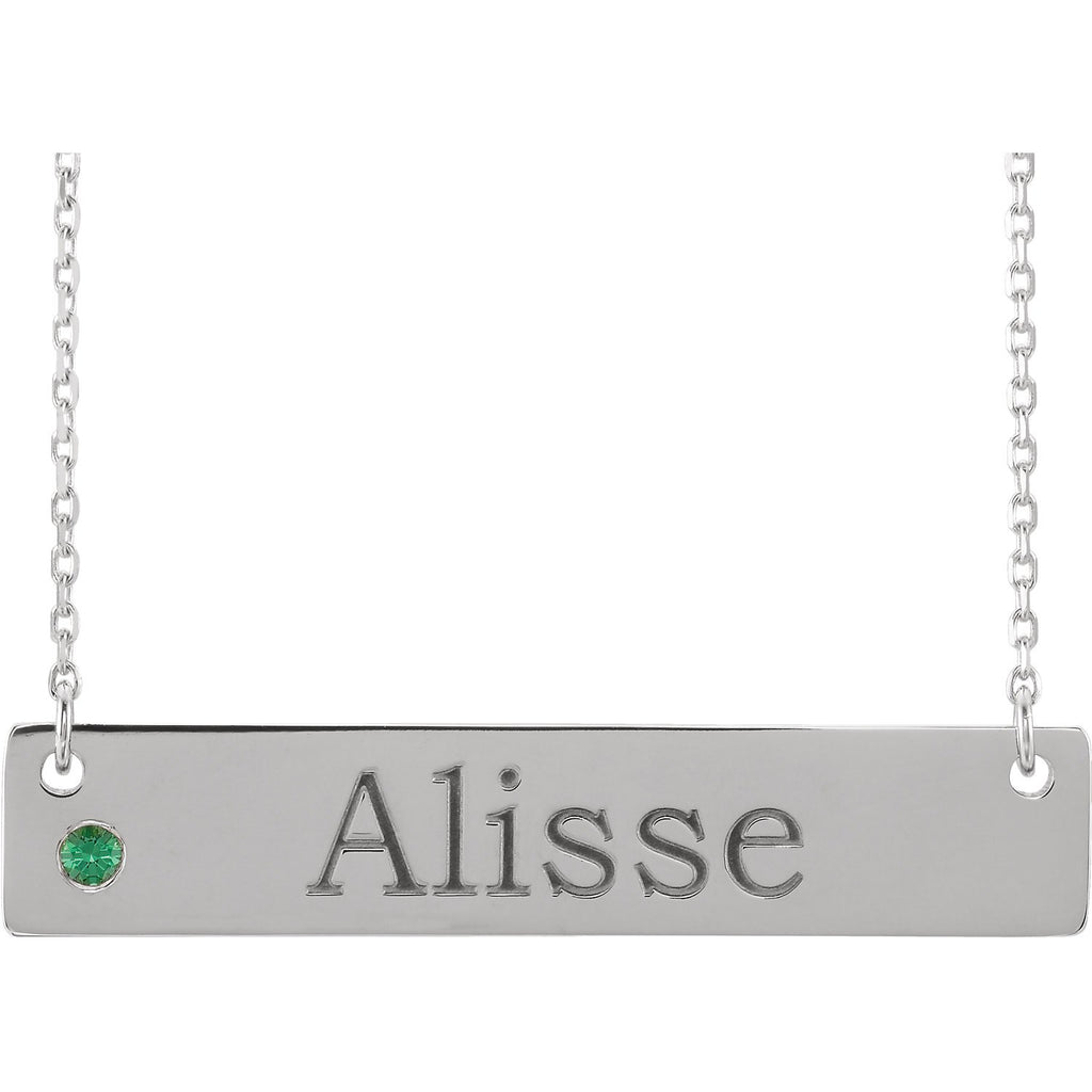 Sterling Silver Birthstone Necklace Mounting
