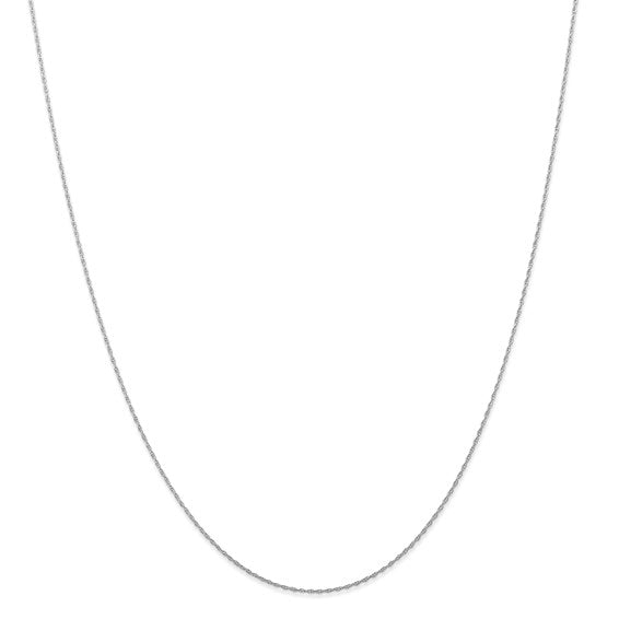 22 in - 14k White Gold .7 mm Cable Rope Chain