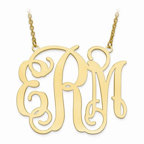 GP .027 Gauge Monogram Plate With Chain