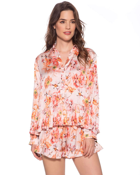 Blush Flora Short Pj
