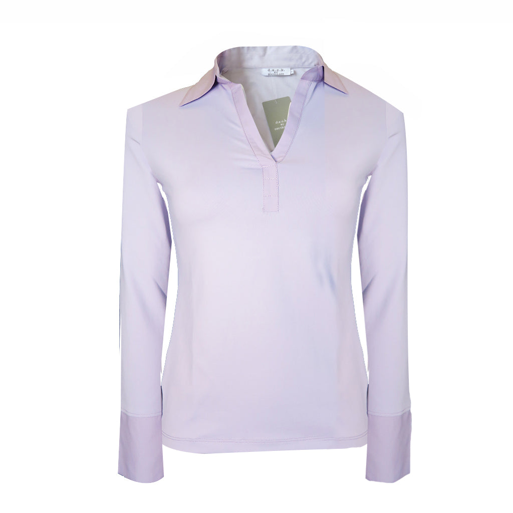 82103 Collar and Cuff Shirt in lilac