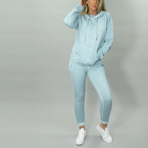 Jogger with Side Stripe Ribbon- Anis
