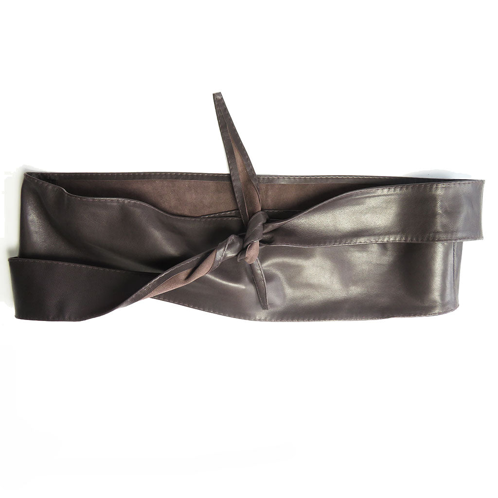 Leather OBI Belt - Choco