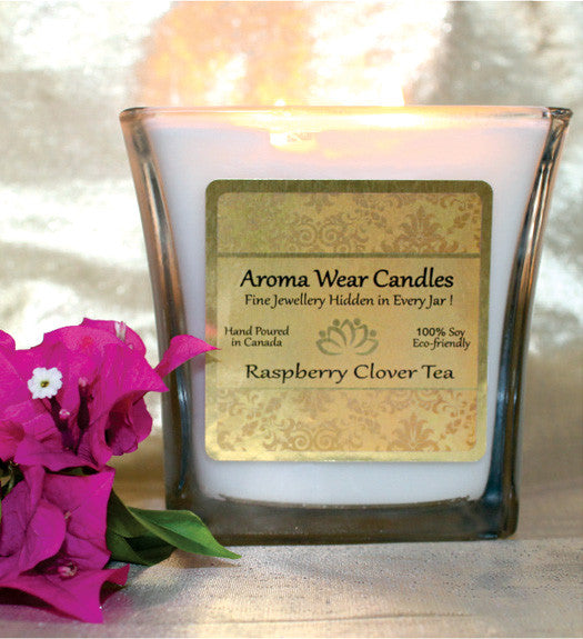 Raspberry Clover Tea Candle