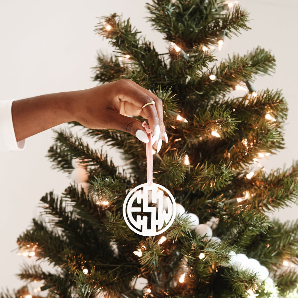 Brooklyn Block Monogram Ornament