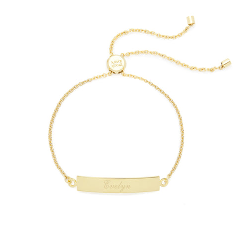 Elena Adjustable Name Bar Bracelet