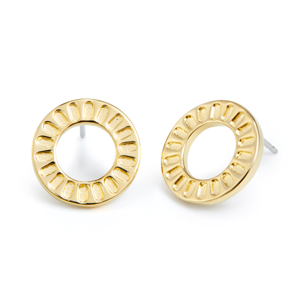 Central Circle Earrings