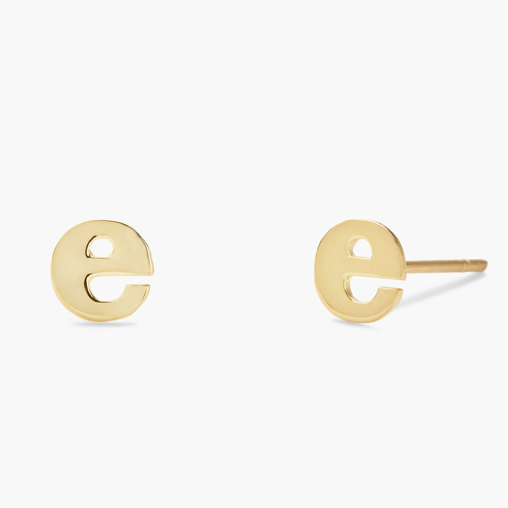 Everly 14K Initial Earrings